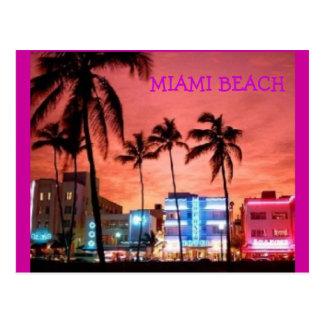 Het Strand van Miami, Florida Briefkaart