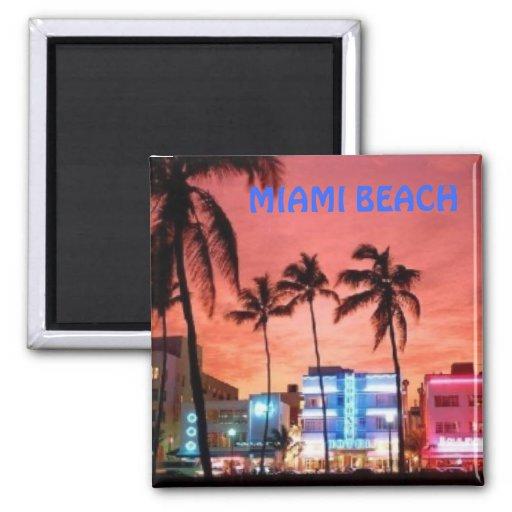Het Strand van Miami, Florida Koelkast Magneet