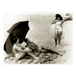 Het Strand van Oregon van de zomer - Vintage Foto Briefkaart