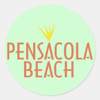 Het Strand van Pensacola Ronde Sticker