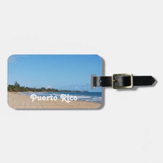 Het Strand van Puerto Rico Kofferlabel