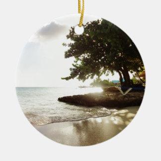 Het Strand van Punta Canta van de Dominicaanse Rond Keramisch Ornament