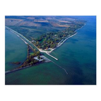Het Strand van Reno bij de Luchtfoto van Erie van Briefkaart