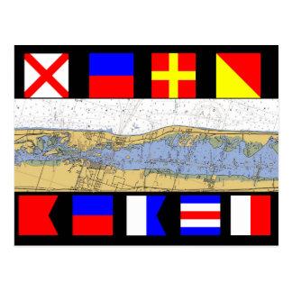 Het Strand van Vero, Vlaggen van het Signaal van Briefkaart