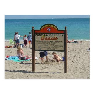 Het Strand van voet Lauderdale Briefkaart