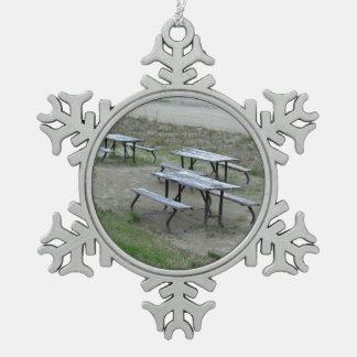 Het Strand van Wasaga van lijsten Tin Sneeuwvlok Ornament