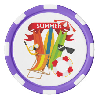 Het Strand Watersports van de zomer Pokerchips