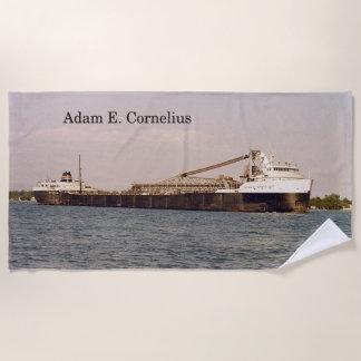Het strandhanddoek van Adam E. Cornelius Strandlaken