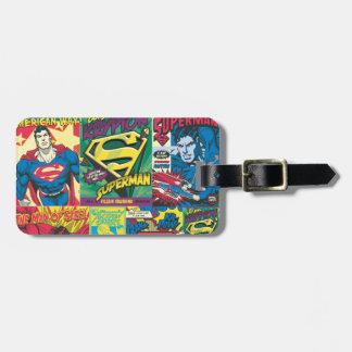 Het Stripverhaal van de superman Bagagelabel