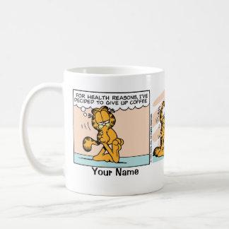 """Het Stripverhaal van Garfield """"geef van de Koffie Basic Witte Mok"""