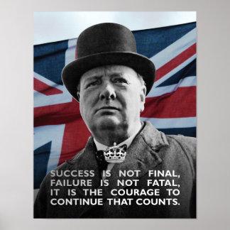 Het Succes van Churchill- van Winston Poster