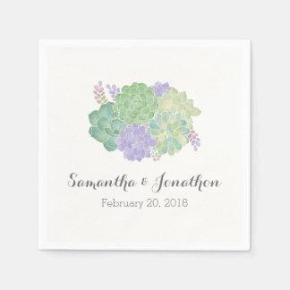 Het succulente Elegante Huwelijk van het Boeket Papieren Servetten