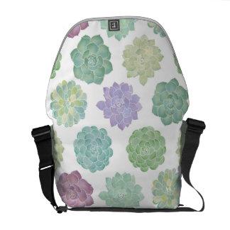 Het succulente Patroon van de Tuin Courier Bag