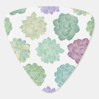 Het succulente Patroon van de Tuin Gitaar Plectrums 0