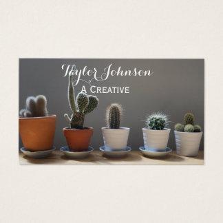het succulente visitekaartje van cactus moderne visitekaartjes