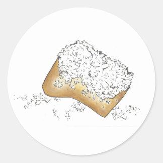 Het Suikerachtige Gebakje Beignet van NOLA New Ronde Sticker