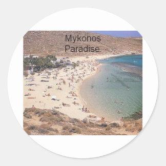 Het Super Paradijs van Griekenland Mykonos (St.K) Ronde Sticker