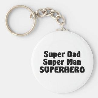 Het super Super Man Superhero van de Papa Sleutelhanger