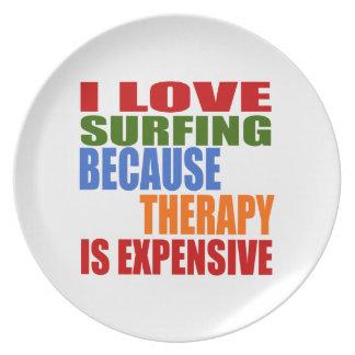 Het surfen is Mijn Therapie Melamine+bord