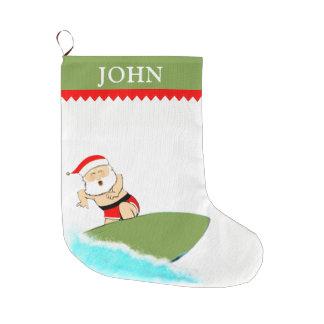 Het surfen Kerstman Grote Kerstsok