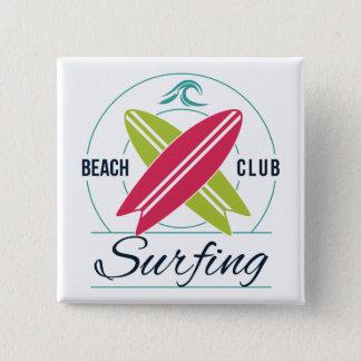 Het Surfen van de Club van het strand knoop Vierkante Button 5,1 Cm