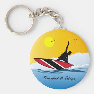 Het Surfen van Trinidad en van Tobago Toco Sleutelhanger