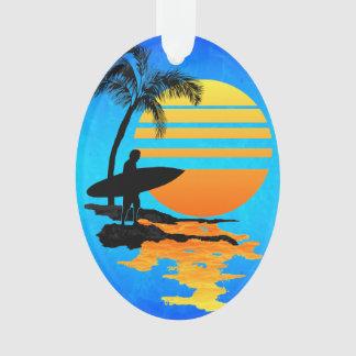 Het surfen Zonsopgang Ornament