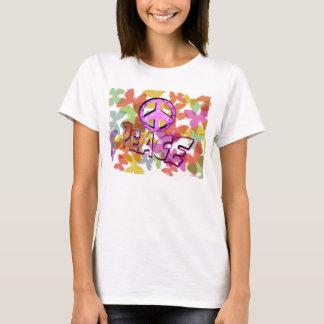 Het Symbool en de Vlinders van Word van de vrede T Shirt