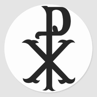Het Symbool PX van Christus Ronde Sticker