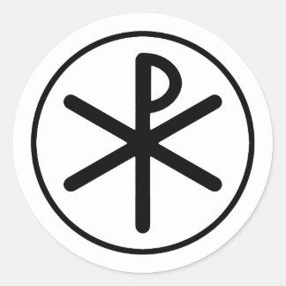 Het symbool van chi-Rho Ronde Sticker