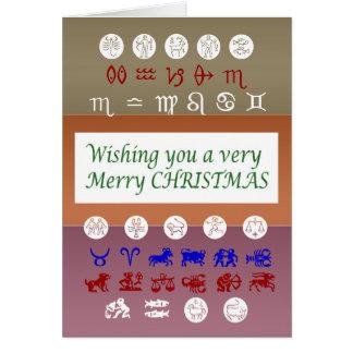 Het Symbool van de Astrologie van de dierenriem: Briefkaarten 0