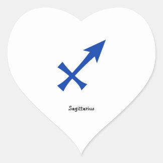 Het symbool van de Boogschutter Hart Sticker