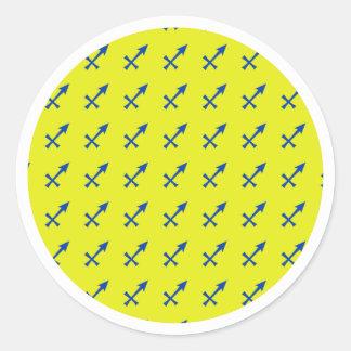 Het symbool van de Boogschutter Ronde Sticker
