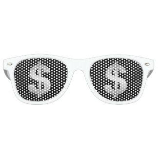 Het symbool van de dollar retro zonnebril