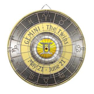 Het Symbool van de Horoscoop van Tweeling Dartbord