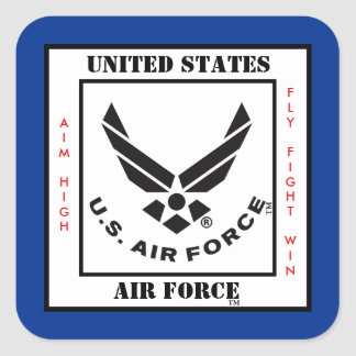 Het Symbool van de Luchtmacht Vierkante Sticker