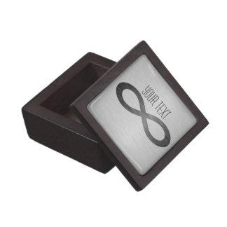 Het Symbool van de oneindigheid op de Textuur van Premium Cadeau Doosje