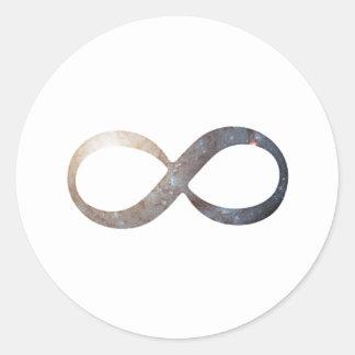 Het Symbool van de oneindigheid Ronde Sticker