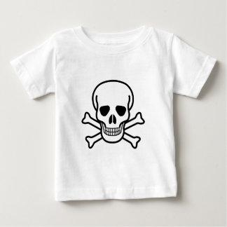 Het symbool van de schedel en van de dood van baby t shirts