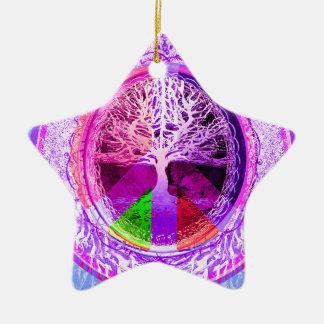 Het Symbool van de vrede in de Kleuren van de Keramisch Ster Ornament
