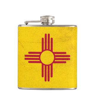 Het Symbool van de Zon van New Mexico Grunge- Zia Heupfles