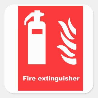 Het Symbool van het Brandblusapparaat Vierkante Sticker