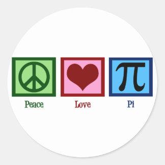 Het Symbool van het Hart Pi van het Teken van de Ronde Sticker