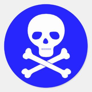Het Symbool van het vergift Ronde Sticker