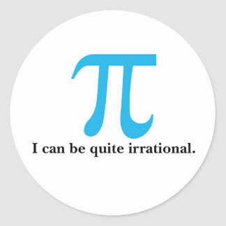 Het Symbool van pi, kan ik Irrationele Stickers