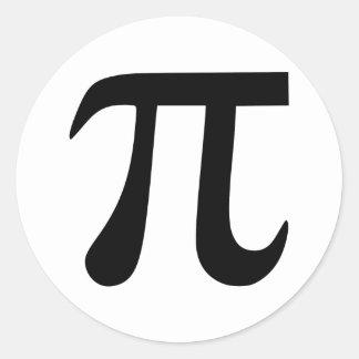 Het Symbool van pi Ronde Sticker