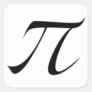 Het Symbool van pi Vierkante Sticker