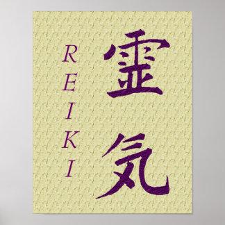 Het Symbool van Reiki in Paars Poster