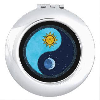 Het Symbool van Yin Yang van de Maan van de zon Make-up Spiegel