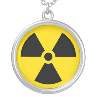Het symboolketting van de straling zilver vergulden ketting